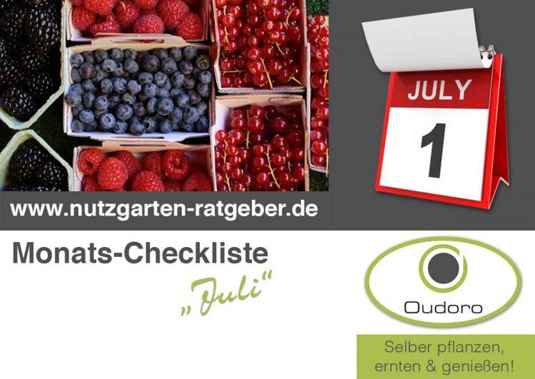 Der Nutzgarten Ratgeber für den Monat Juli