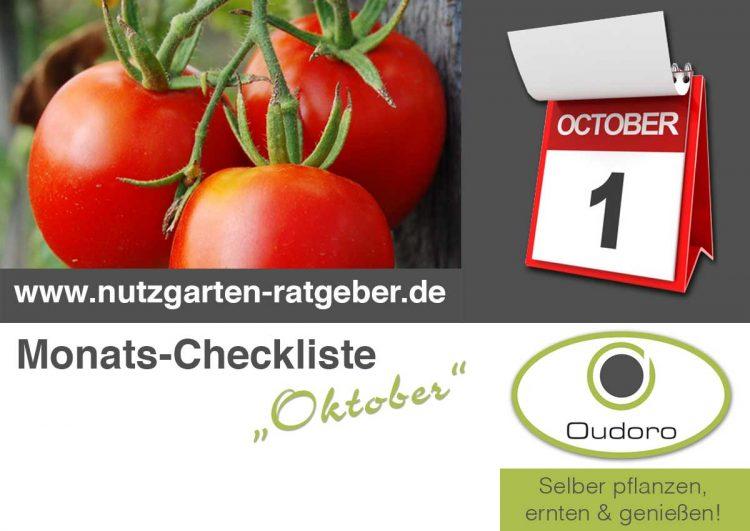 Der Nutzgarten Ratgeber für den Monat Oktober